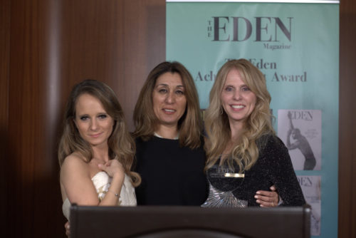 Maria-Elena Infantino, Maryam Morrision (THE EDEN MAGAZINE) und Hollywood-Star Dina Morrone