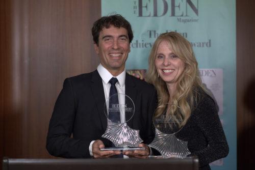 strahlende Gewinner Carlo Ponti jr mit Dina Morrone