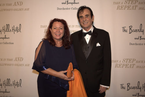 Astrid Arens und Hollywood-Regisseur Toni Tarantion