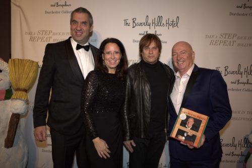 Unternehmerpaar Marcus und Claudia Giers mit Rockstar Chris Pitman (Guns N'Roses) und US-Top-Speaker und Philanthrop Bruno Serato