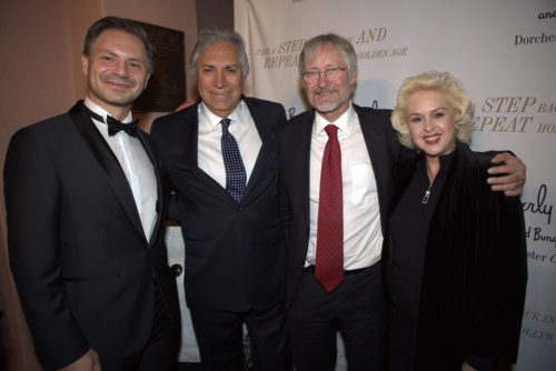 dt. Redner Marcus Rübbe mit Fernando Lazcano-Dunn (Generalkonsul Bolivien a.D.), Hans Jörg Neumann (dt. Generalkonsul), Ingrid Lazcano Dunn