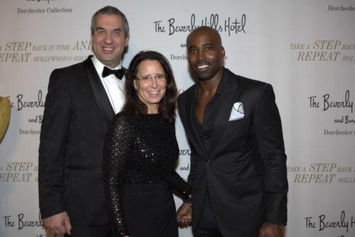 Unternehmerpaar Marcus und Claudia Giers mit NFL-Football-Star Keith Mitchell